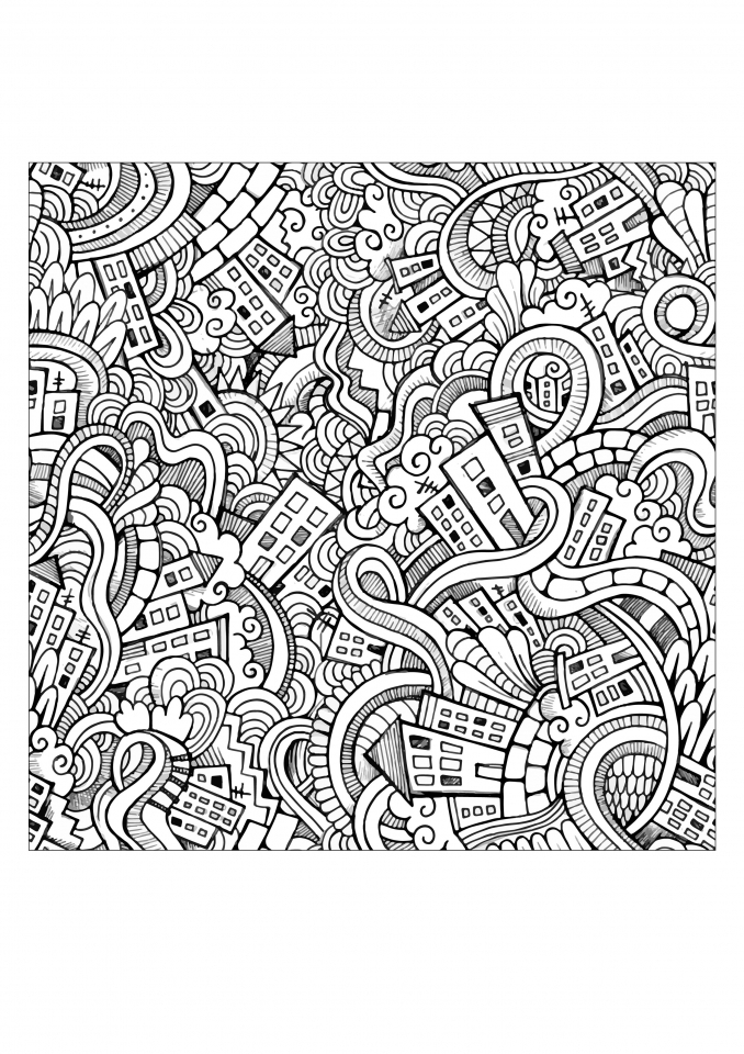 Get This Free Doodle Art Coloring