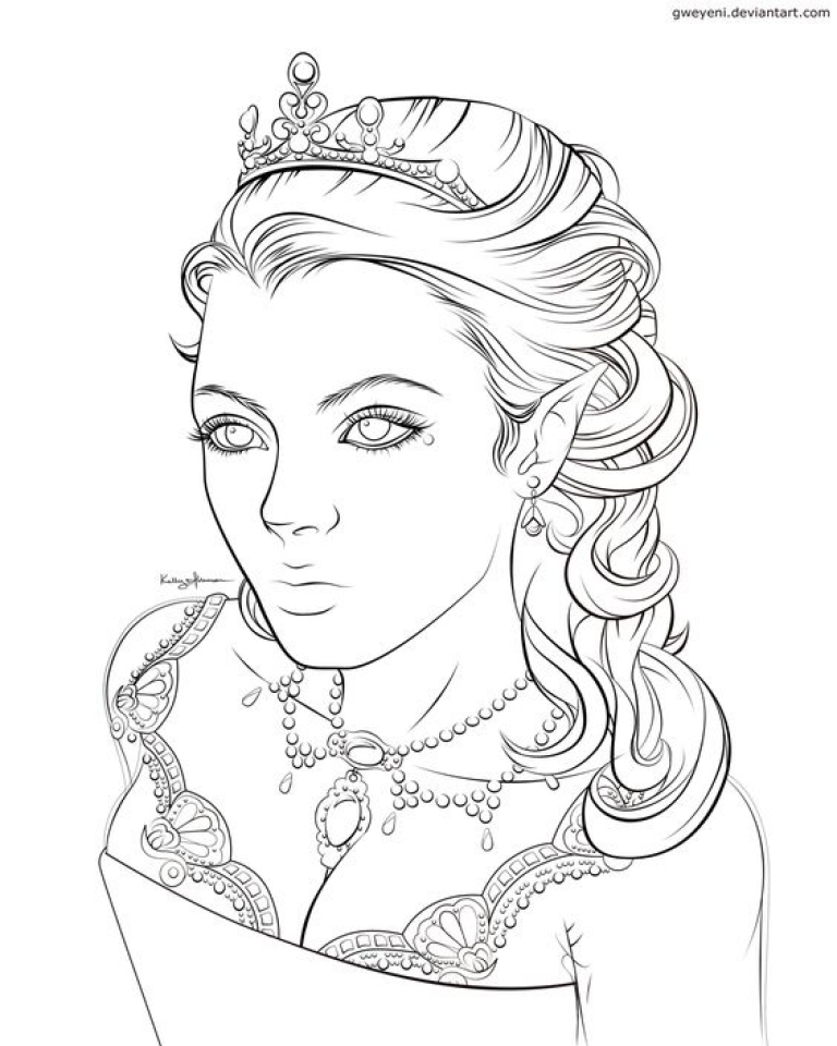 Free Elf Coloring Pages for Adults  14459