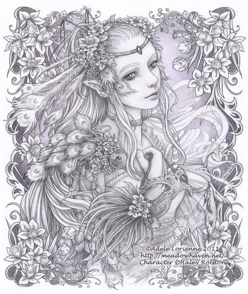 Free Elf Coloring Pages for Adults   44832