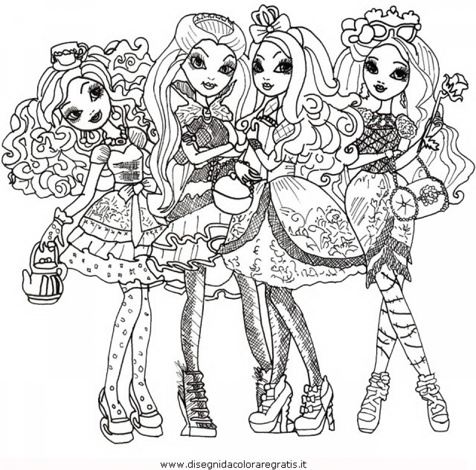 Get This Free Ever After High Coloring Pages 07599