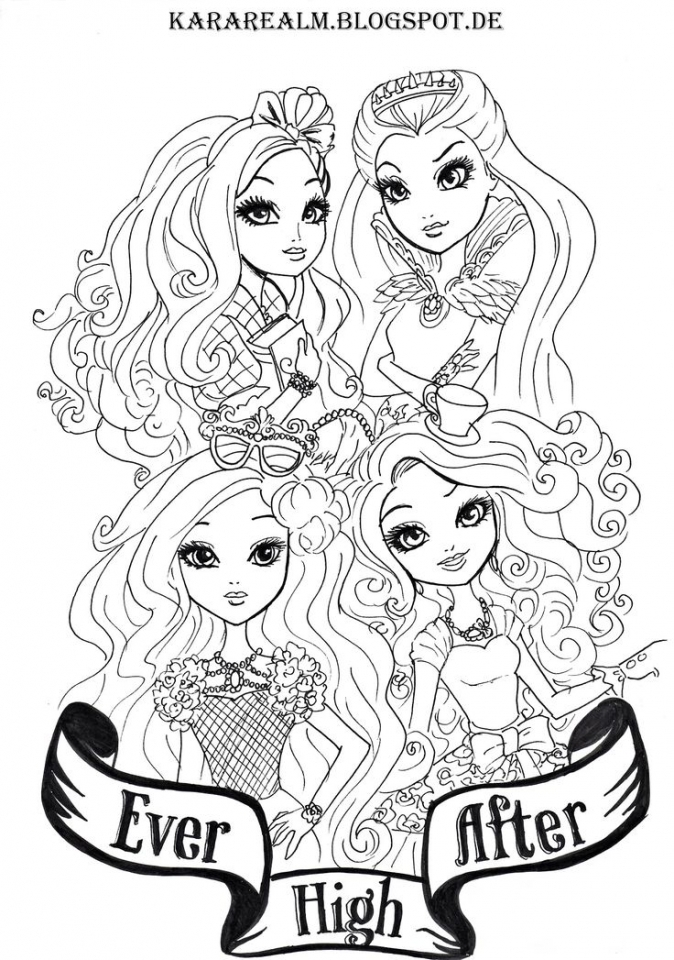 Free Ever After High Coloring Pages   20627