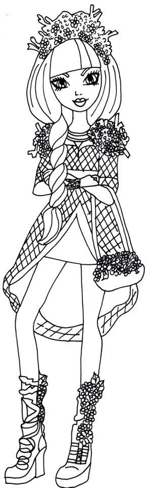 Get This Free Ever After High Coloring Pages To Print 77745