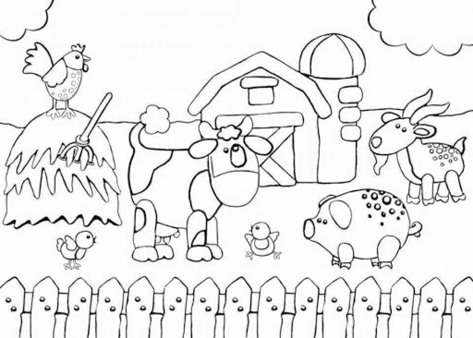 Get this free farm coloring pages f5w4w for Free printable coloring pages farm animals
