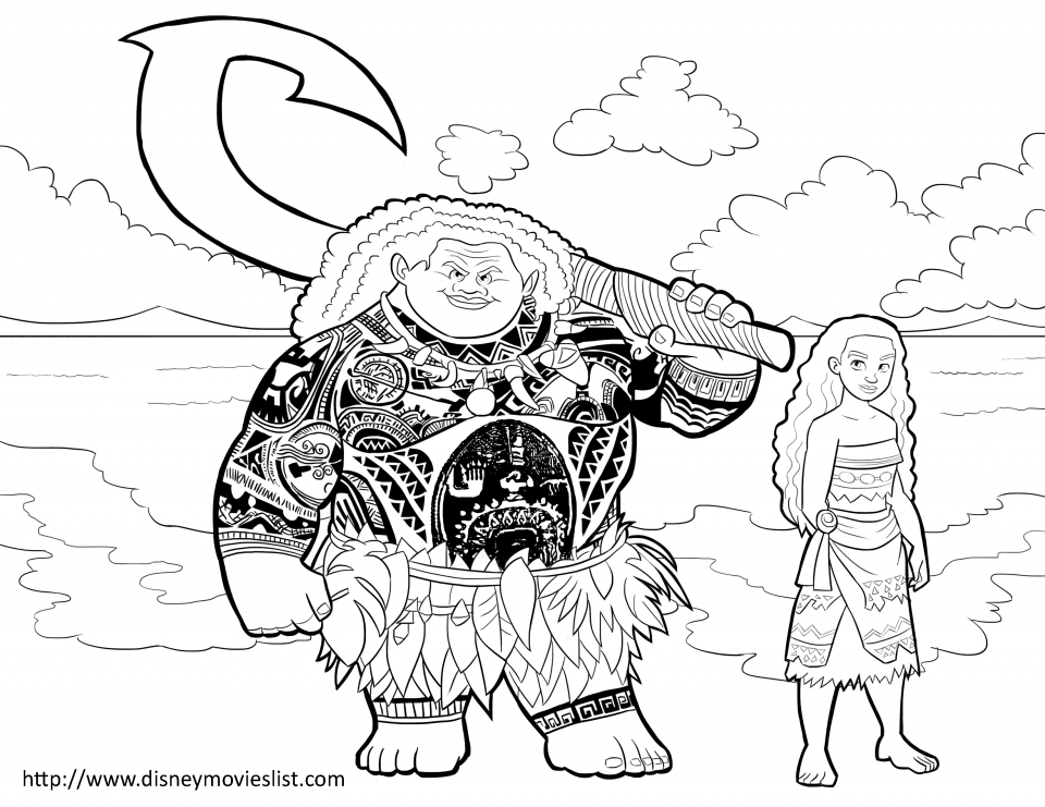 Free Moana Coloring Pages to Print   81PL8