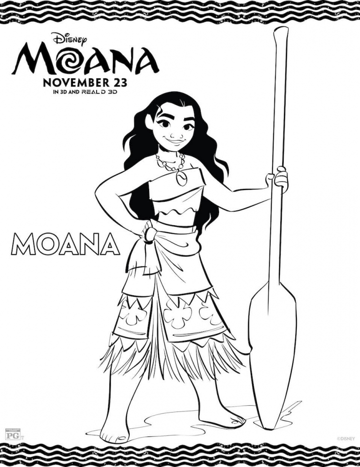 Free Moana Coloring Pages to Print   ED33C