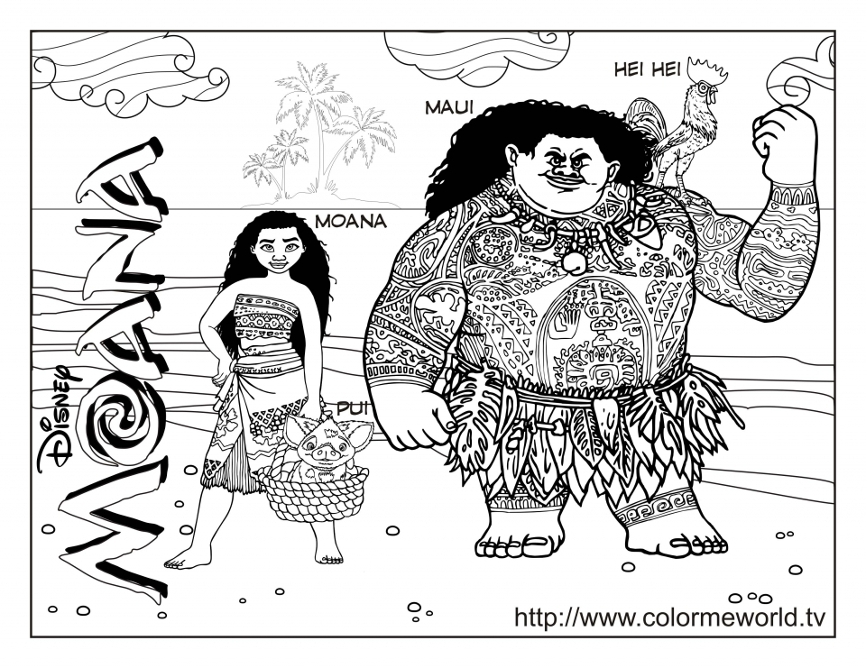 Free Moana Coloring Pages to Print   GC49K