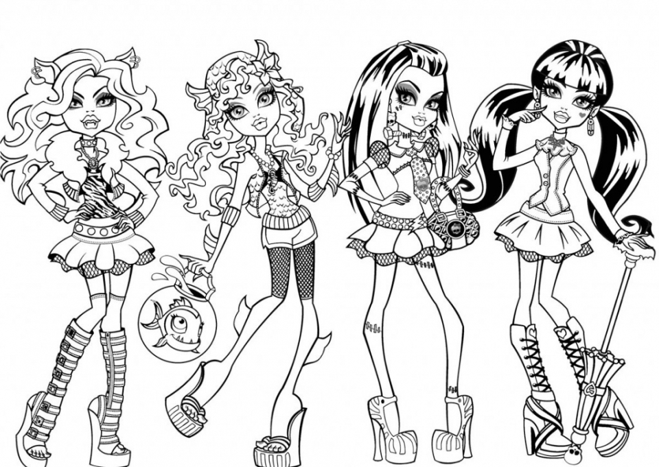 Free Monster High Coloring Pages   706110