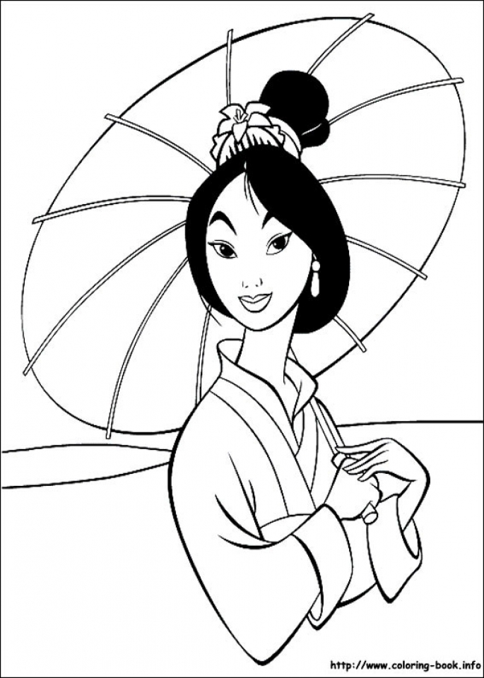 Free Mulan Coloring Pages   72ii6