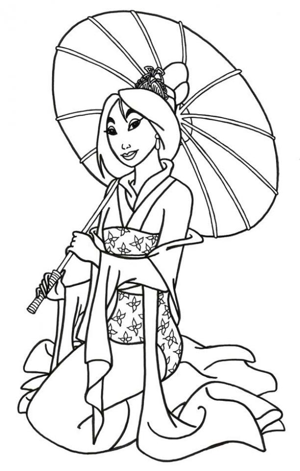 Get This Free Mulan Coloring Pages To Print Rk86j