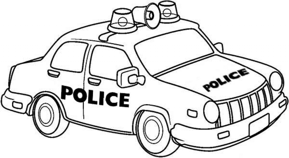 free police car coloring pages 34753