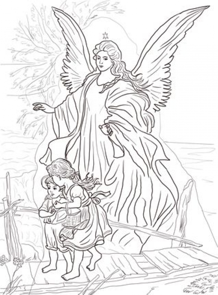 Get This Free Printable Angel Coloring Pages for Adults 34C78