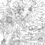 Free Printable Angel Coloring Pages for Adults   5VU21