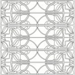 Free Printable Art Deco Patterns Coloring Pages for Grown Ups   642biku