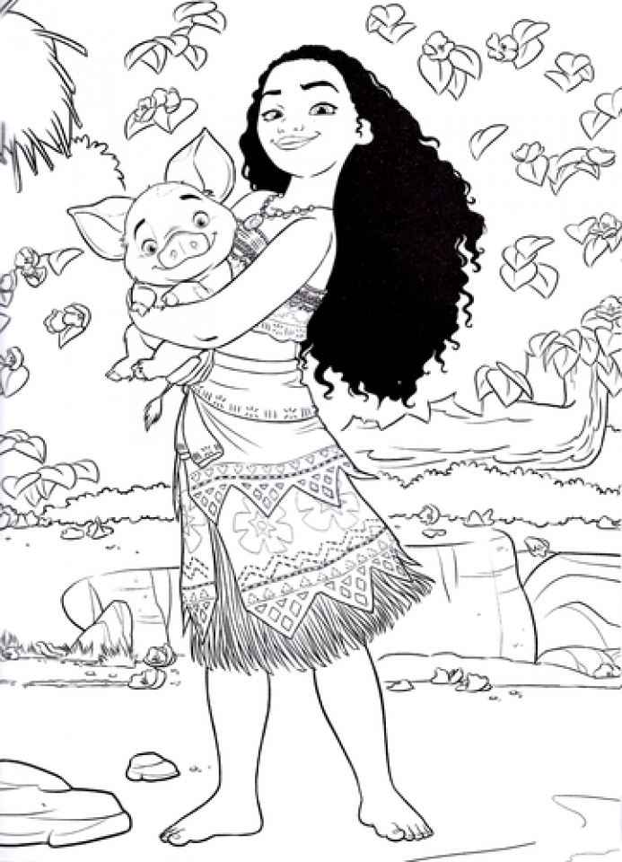Free Printable Disney Moana Coloring Pages   AH81K