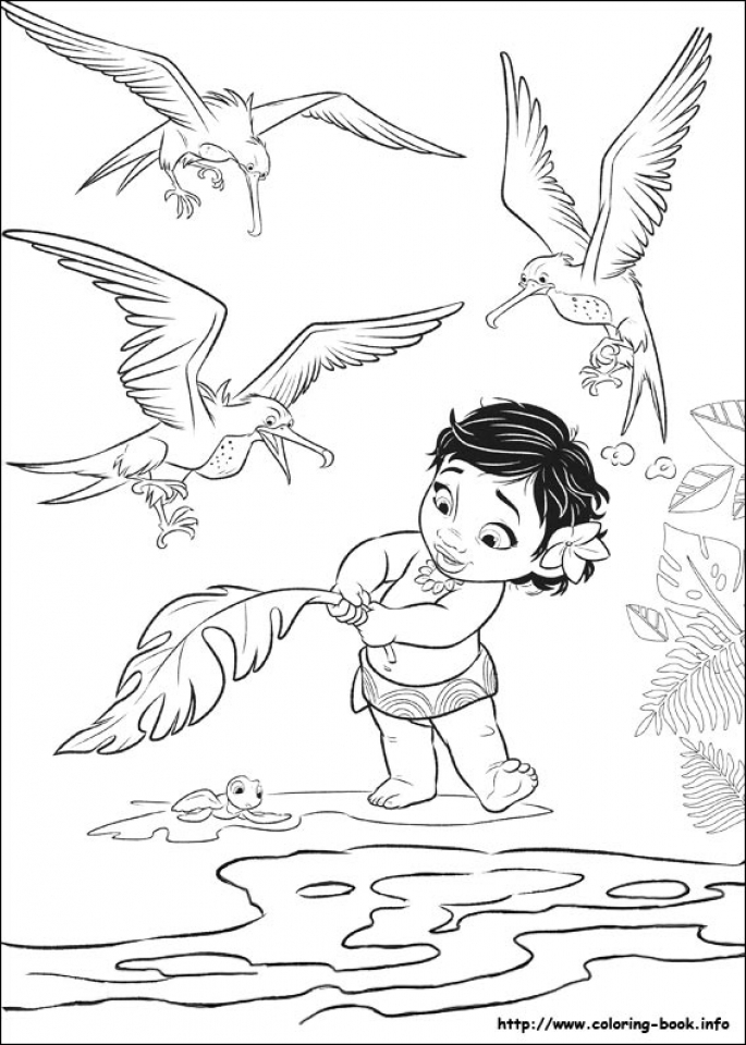Influential image with free printable moana coloring pages