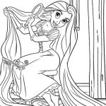 Free Rapunzel Coloring Pages   9UWMI