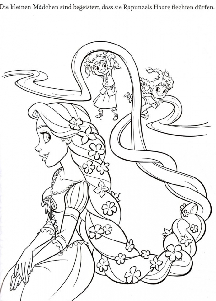 Get This Free Rapunzel Coloring Pages To Print Disney