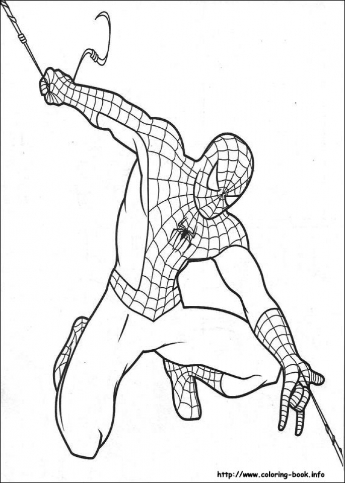 Free Spiderman Coloring Pages   119152