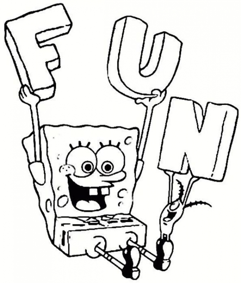 Get This Free Spongebob Squarepants Coloring Pages 9tf1q
