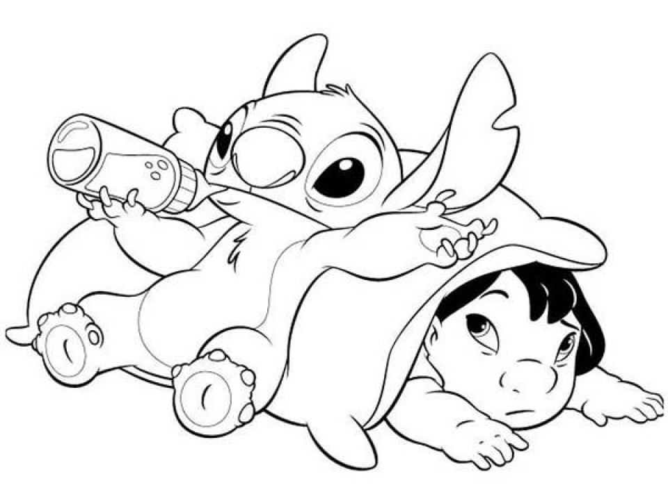 Free Stitch Coloring Pages to Print   t29m25