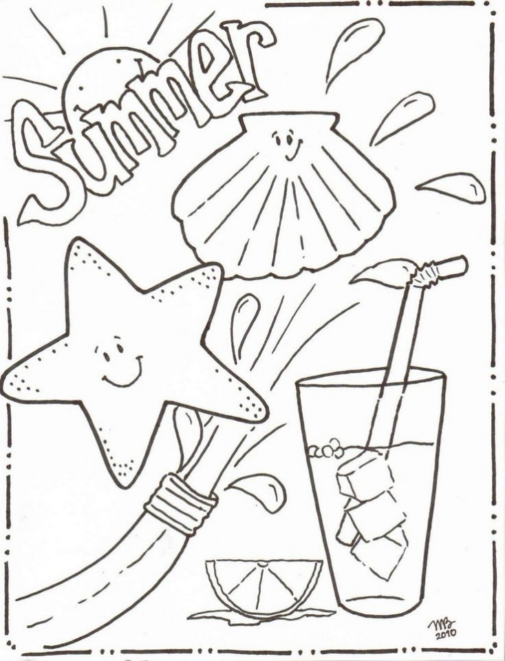 Free Summer Coloring Pages   119155