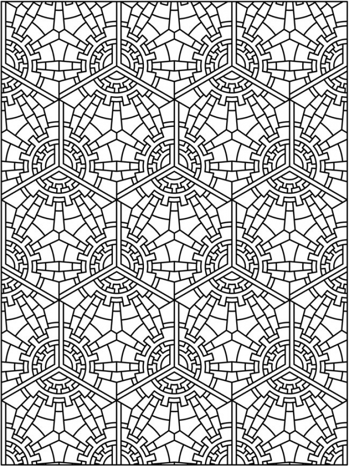 Free Tessellation Coloring Pages Adult Printable   41694