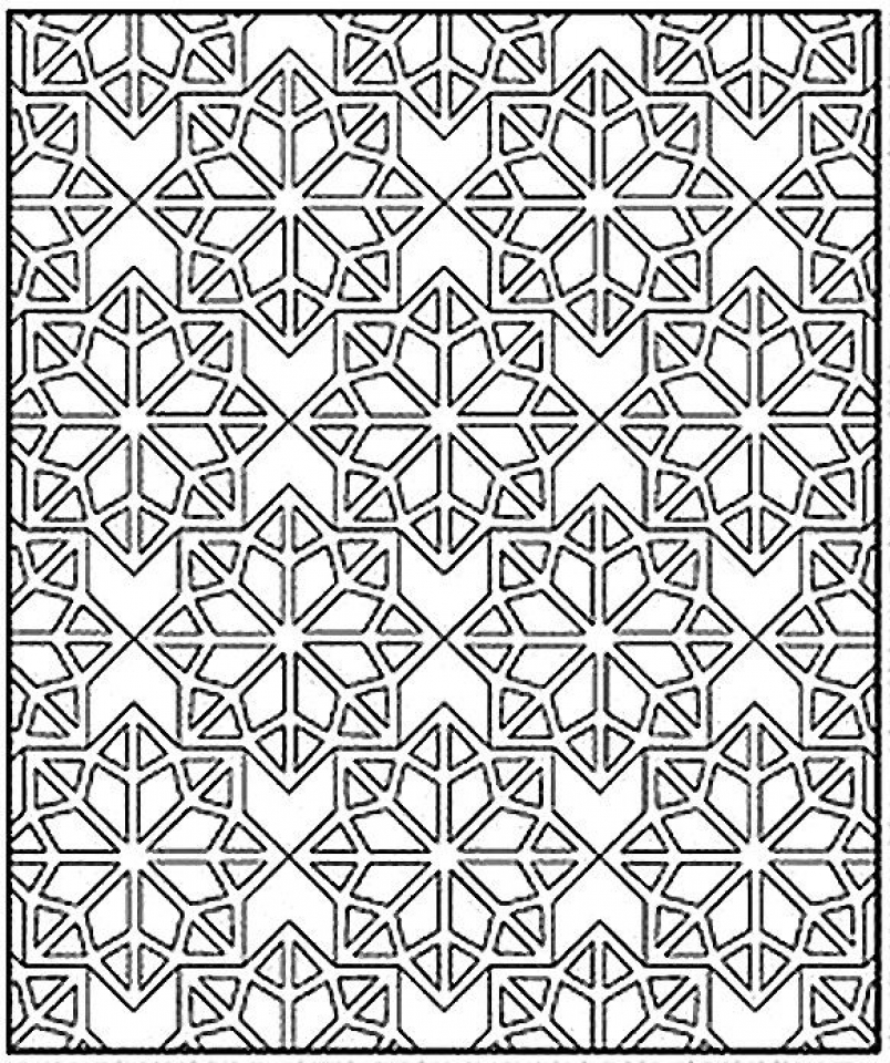 Free Tessellation Coloring Pages Adult Printable   47544