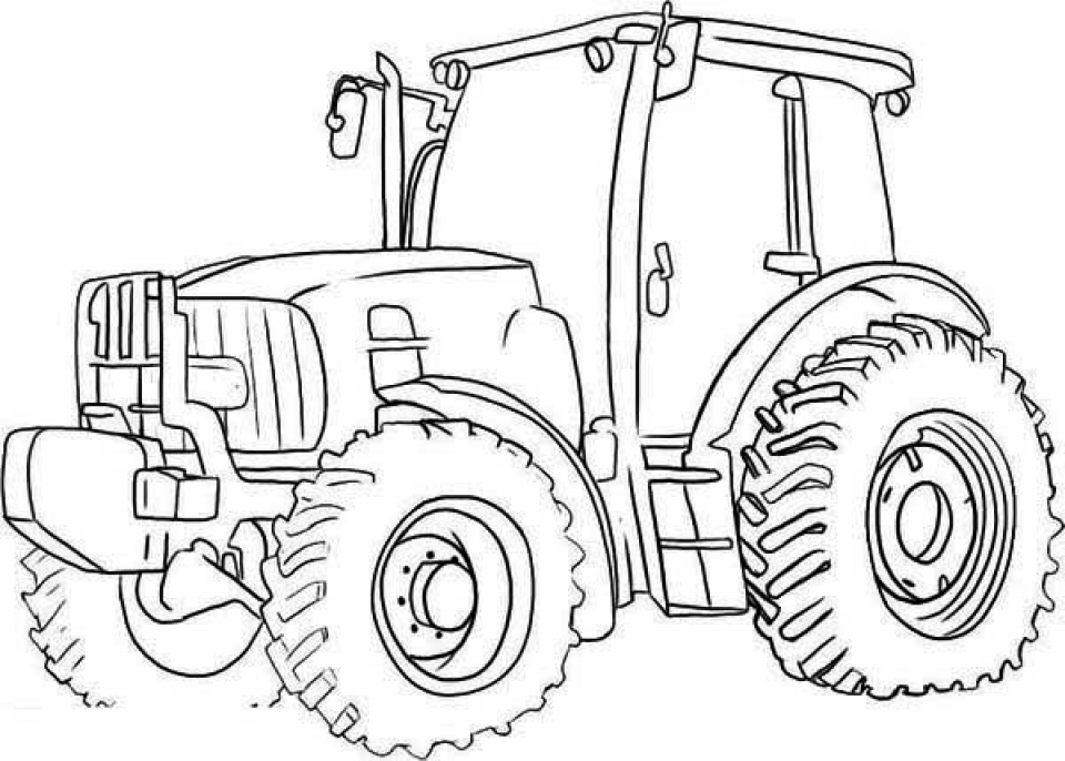 Free Tractor Coloring Pages   39747