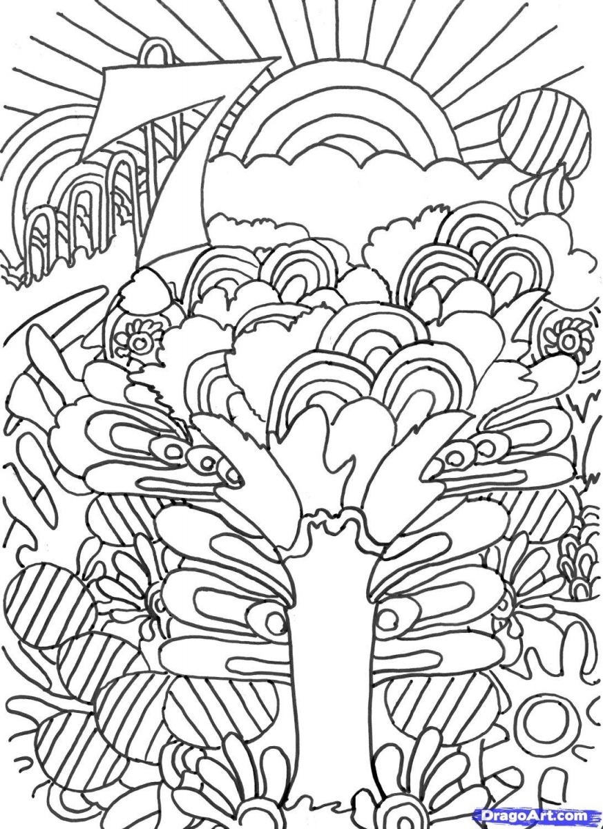 free trippy coloring pages to print for adults hs6w2