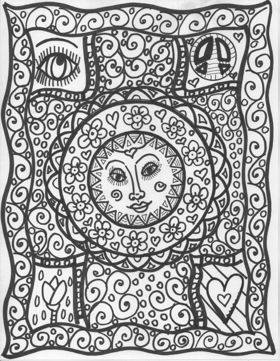 Psychadelic Adult Coloring Pages