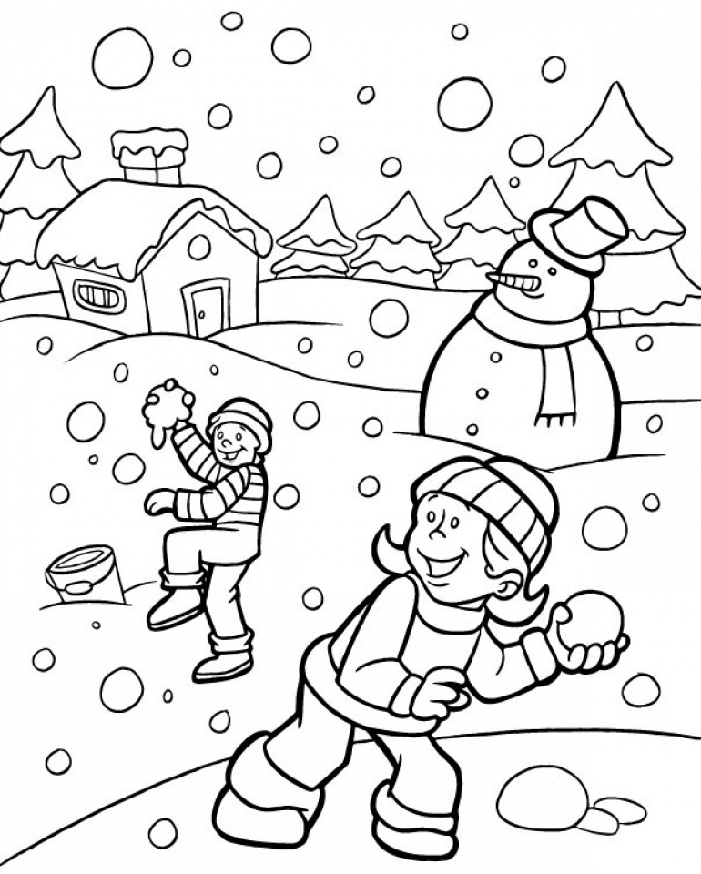 Get This Free Winter Coloring Pages 467390