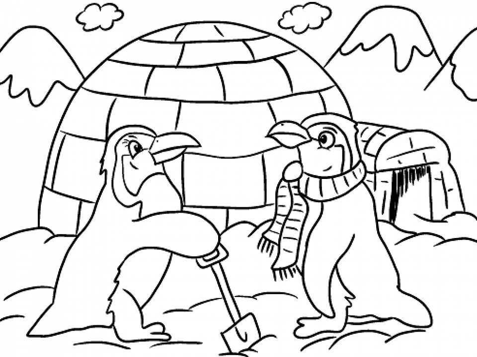 Free Winter Coloring Pages   706101