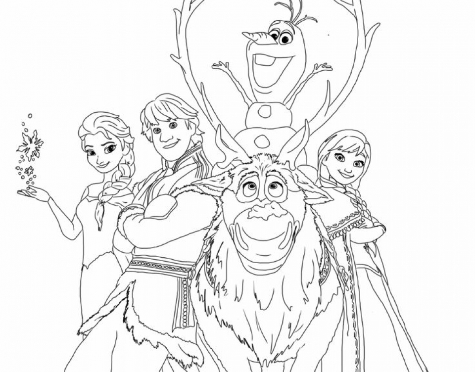 20 Free Printable Disney Frozen Coloring Pages