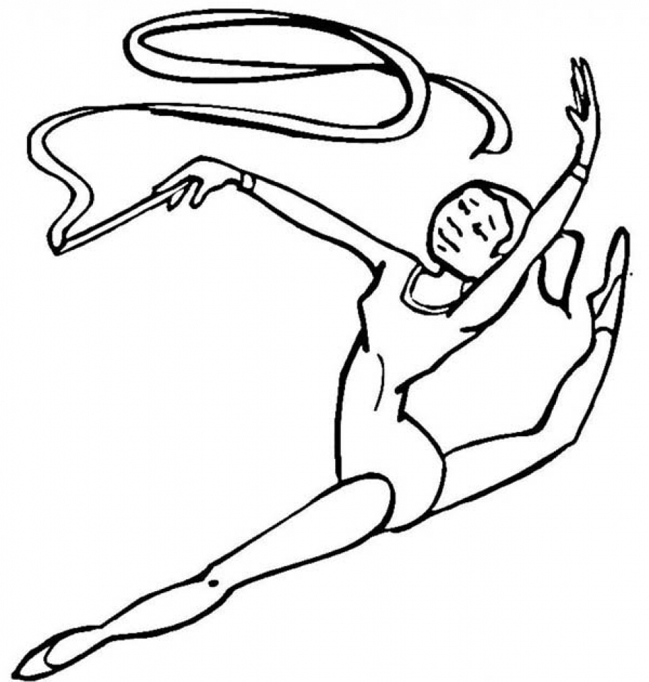 Coloring pictures gymnastics - Artistic Gymnastics High Bar