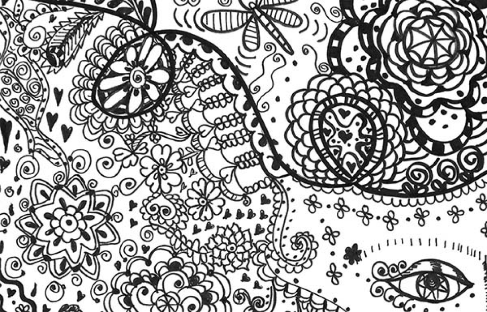 Hard Trippy Coloring Pages Free for Adults   AL3B7