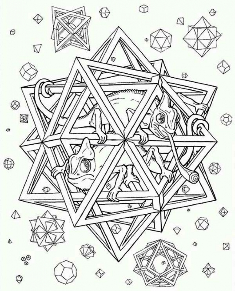 Hard Trippy Coloring Pages Free for Adults   ch5v6