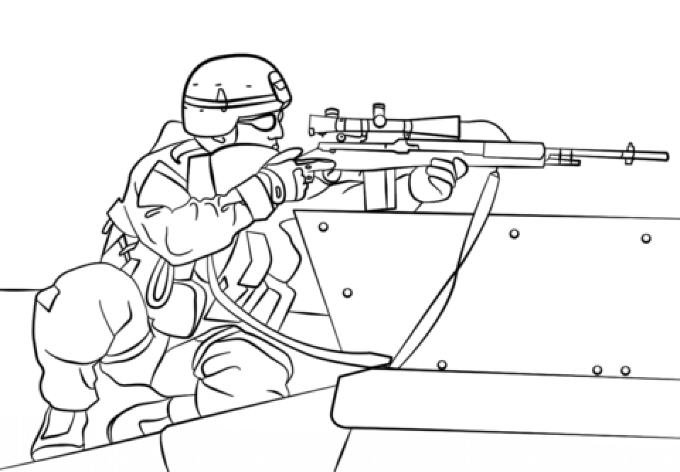 20+ Free Printable Army Coloring Pages - EverFreeColoring.com