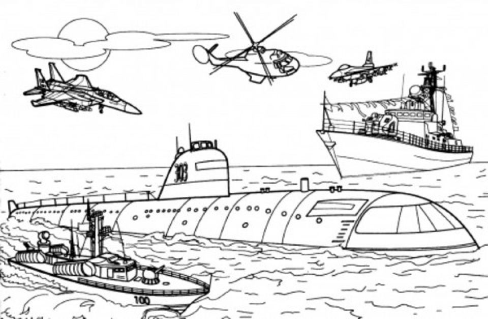 Get This Military Battleship Army Coloring Pages 348ad