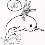 Narwhal Coloring Pages Kids Printable   TRK35