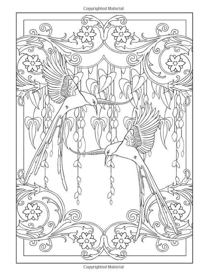 Online Art Deco Patterns Coloring Pages for Adults   ghf3569