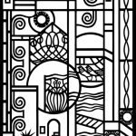 Online Art Deco Patterns Coloring Pages for Adults   hfg4569