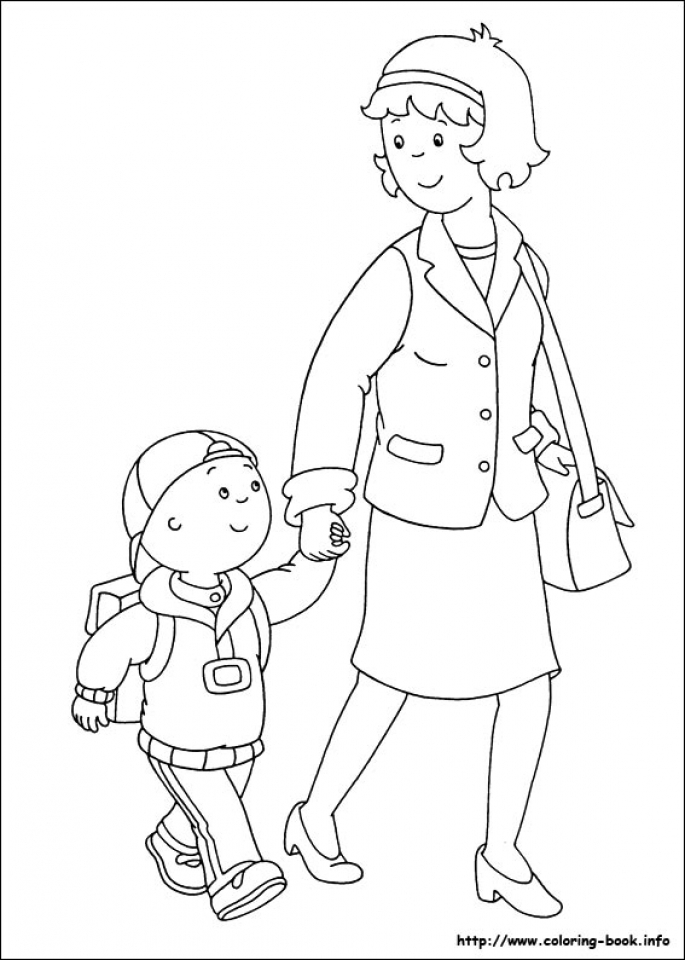 caillou online coloring pages - photo#18