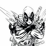 Online Deadpool Coloring Pages   746207