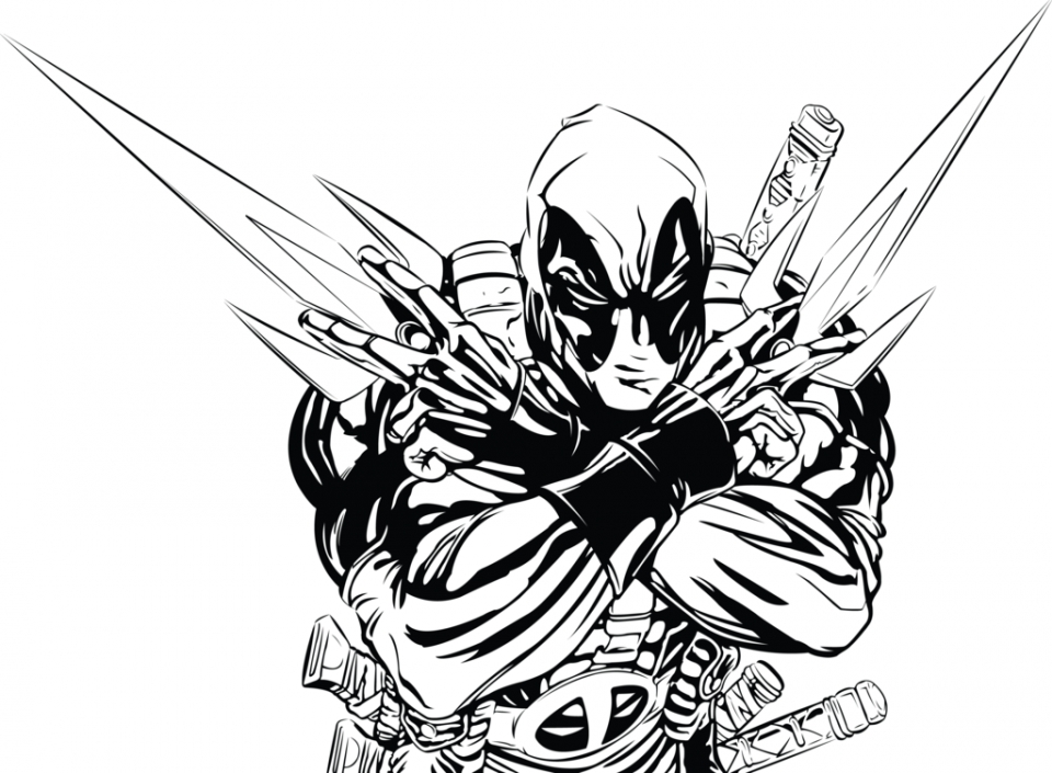 Get This Online Deadpool Coloring
