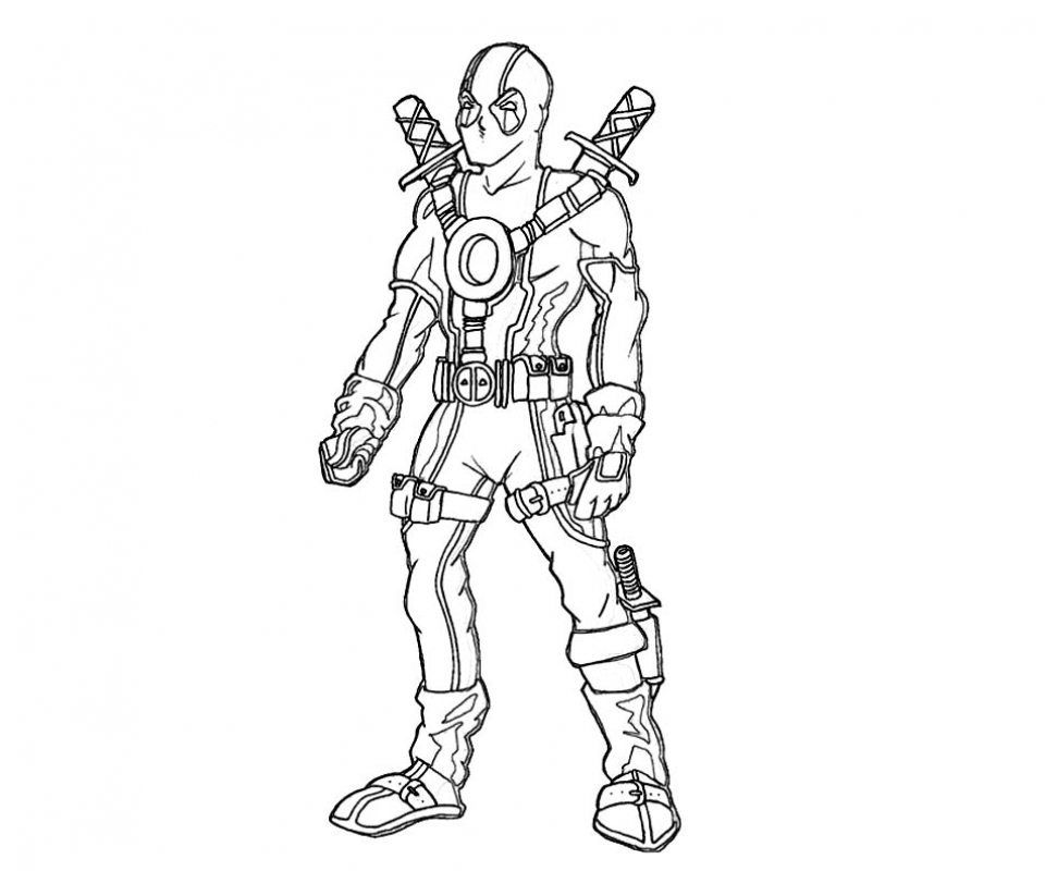 Awesome Deadpool Coloring Images Printable Coloring Pages