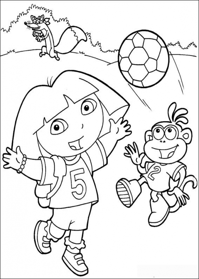 Get this online dora the explorer coloring pages f8shy for Dora the explorer coloring pages free