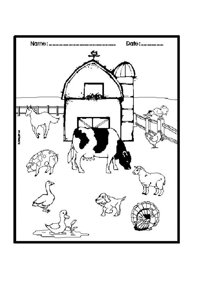Online Farm Coloring Pages   S3YZY
