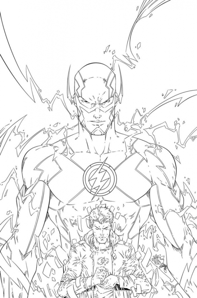 Superhero Thanos Coloring Pages: 20+ Free Printable The Flash Coloring Pages