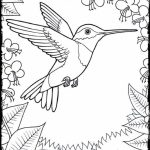 Online Hummingbird Coloring Pages   28344