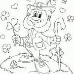 Online Leprechaun Coloring Pages   6q192
